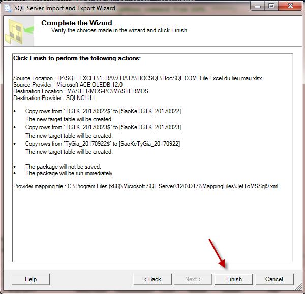 Import file Excel vao SQL Server_SQL 64 bit va Office 32 bit_Buoc 15