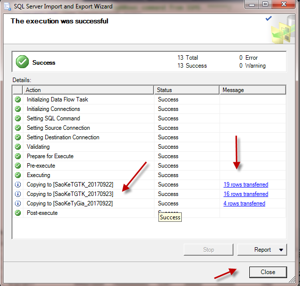 Import file Excel vao SQL Server_SQL 64 bit va Office 32 bit_Buoc 16