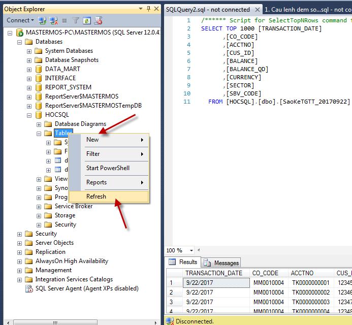 Import file Excel vao SQL Server_SQL 64 bit va Office 32 bit_Buoc 17