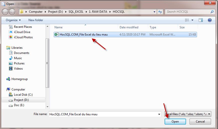 Import file Excel vao SQL Server_SQL 64 bit va Office 32 bit_Buoc 5