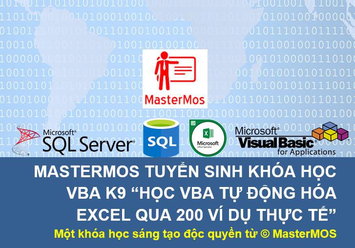 Tuyen sinh khoa hoc VBA K9 - Hoc VBA tu dong hoa Excel qua 200 vi du thuc te