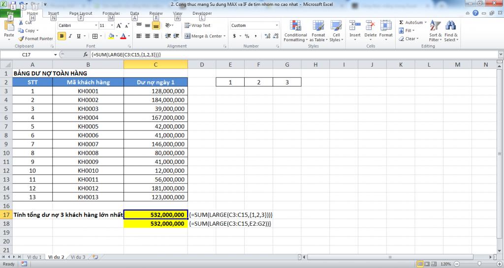 3. Cong thuc mang trong Excel - Manh me nhung day quyen ru - Vi du 2