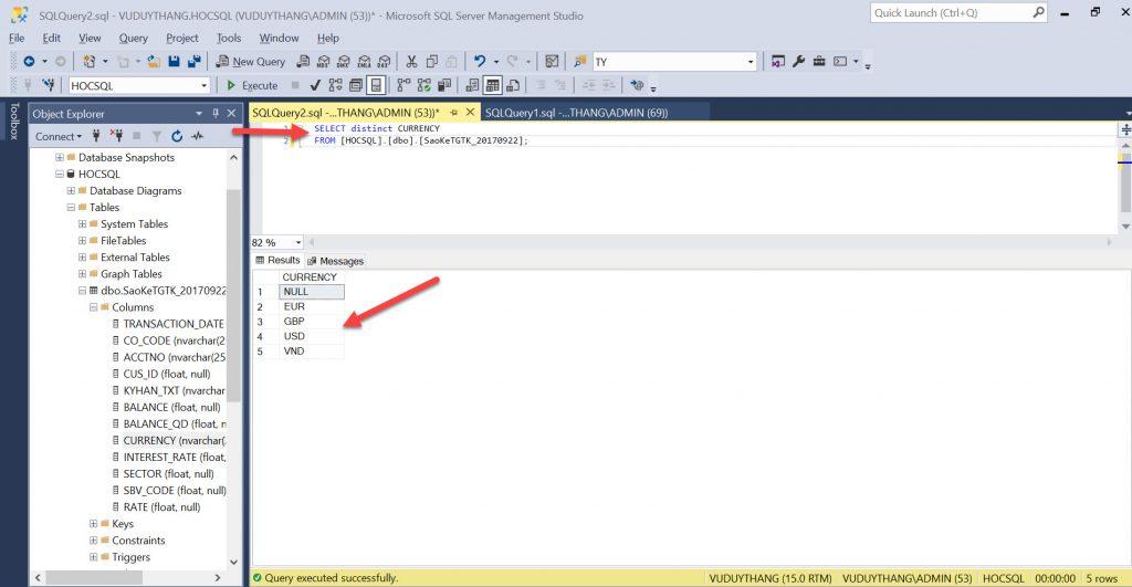B1 Su dung menh de distinct trong SQL Server