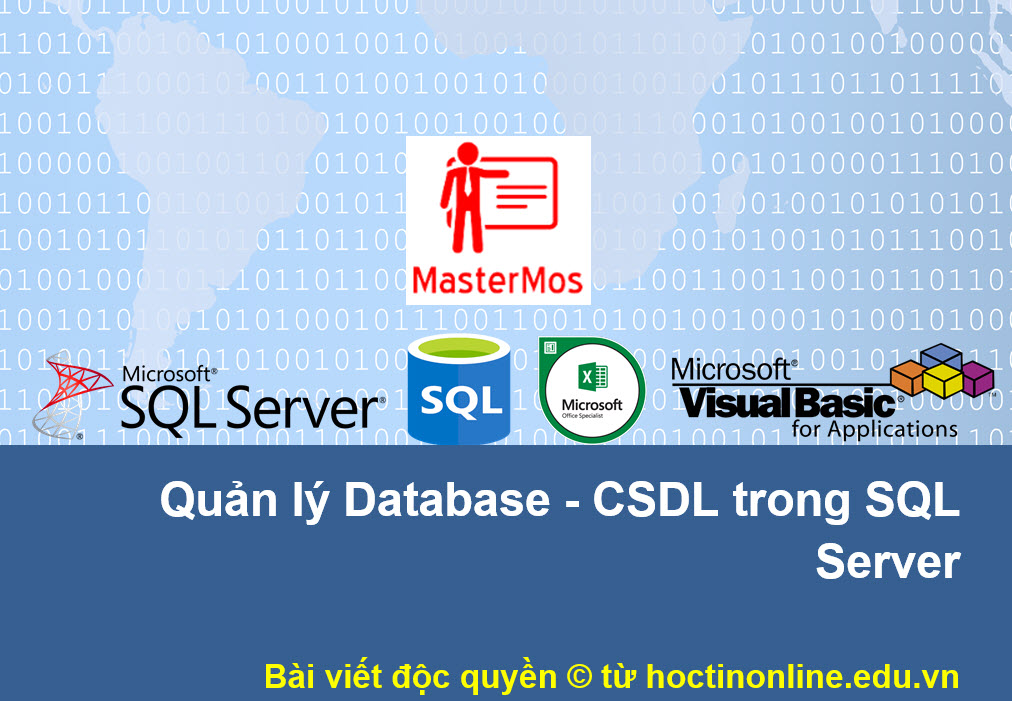 Quan ly Database - CSDL trong SQL Server