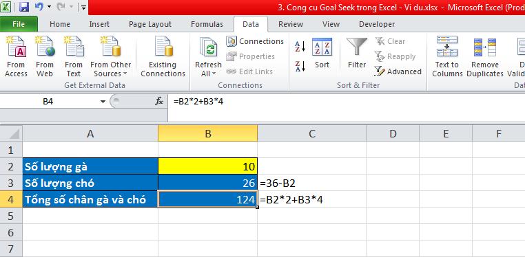 3. Cong cu Goal Seek trong Excel - Vi du 1
