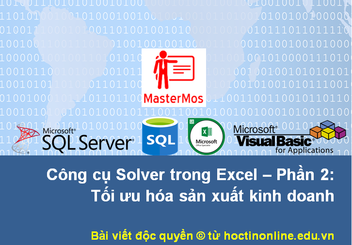 2. Cong cu Solver trong Excel - Phan 2 - Trang bia